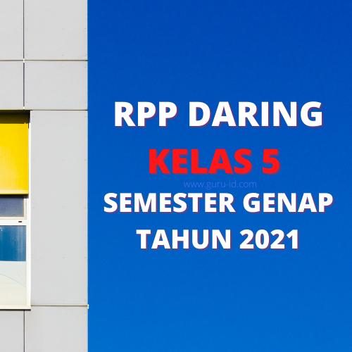 gambar RPP daring kelas 5 semester 2