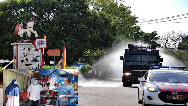Tidak Main-main, Pariaman Kerahkan Water Canon Untuk Desinfektan