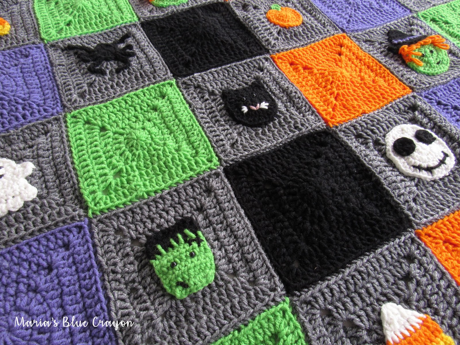 Halloween Granny Square Afghan Crochet Along - Materials