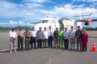 Inaugural Flight Wings Air Tanjung Pinang - Letung Anambas
