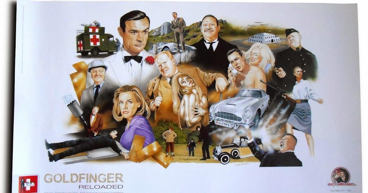Illustrated 007 The Art Of James Bond Goldfinger Reloaded