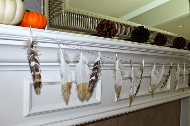 Thanksgiving Decor | Fall Mantle Decor | Bubbles and Gold