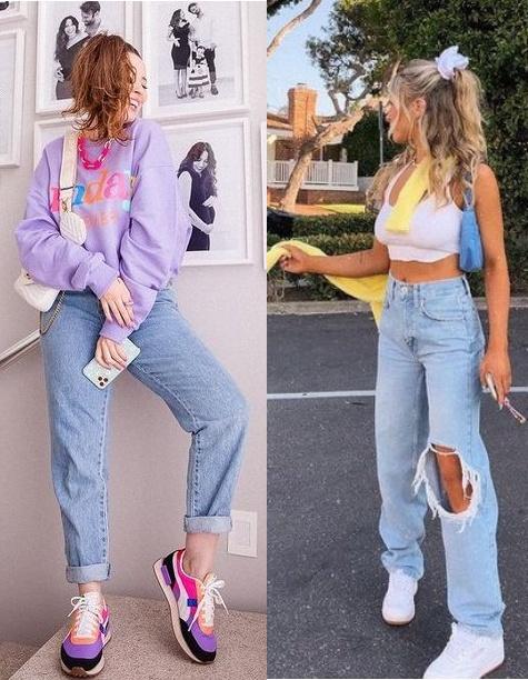 12 Looks inspiração com calça jeans, Taciele Alcolea, Delaney Childs