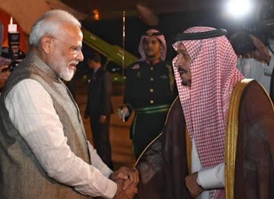सऊदी अरब पहुंचे PM Modi, FII में बताएंगे भारत कैसे बनेगा 5 ट्रिलियन डॉलर की अर्थव्यवस्था