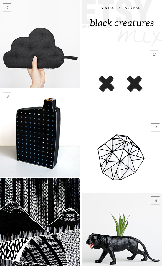 Handmade #etsy finds for the home in black