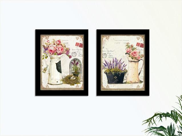 Quadros com estampa floral vintage