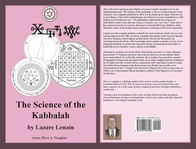 The Science of the Kabbalah. Lazare Lenain. Translated by Piers Vaughan. Portrait by Travis Simpkins