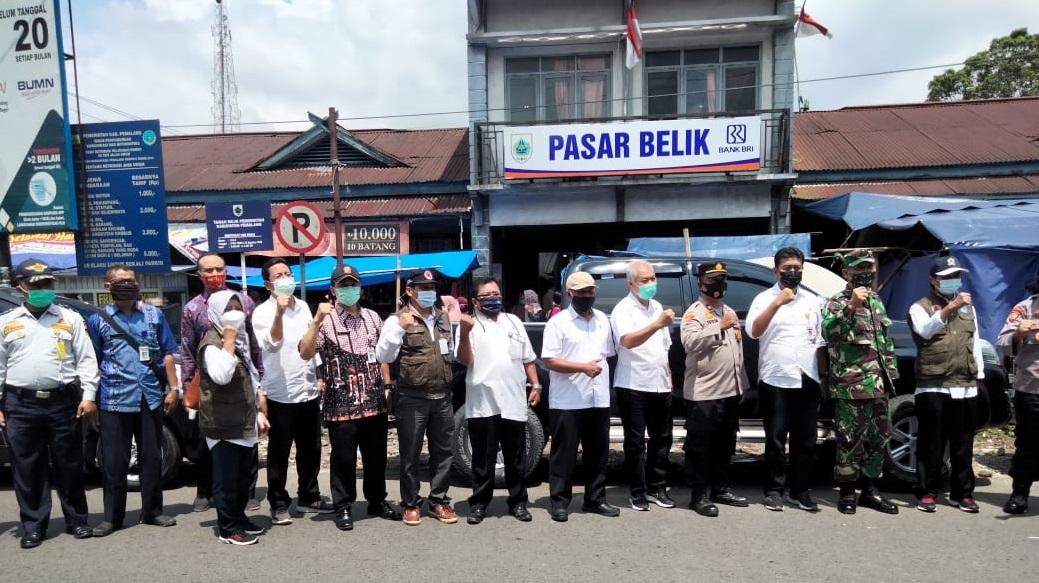 Pasar Belik Dapat Kunjungan Tim Satgas Covid-19 Kabupaten Pemalang