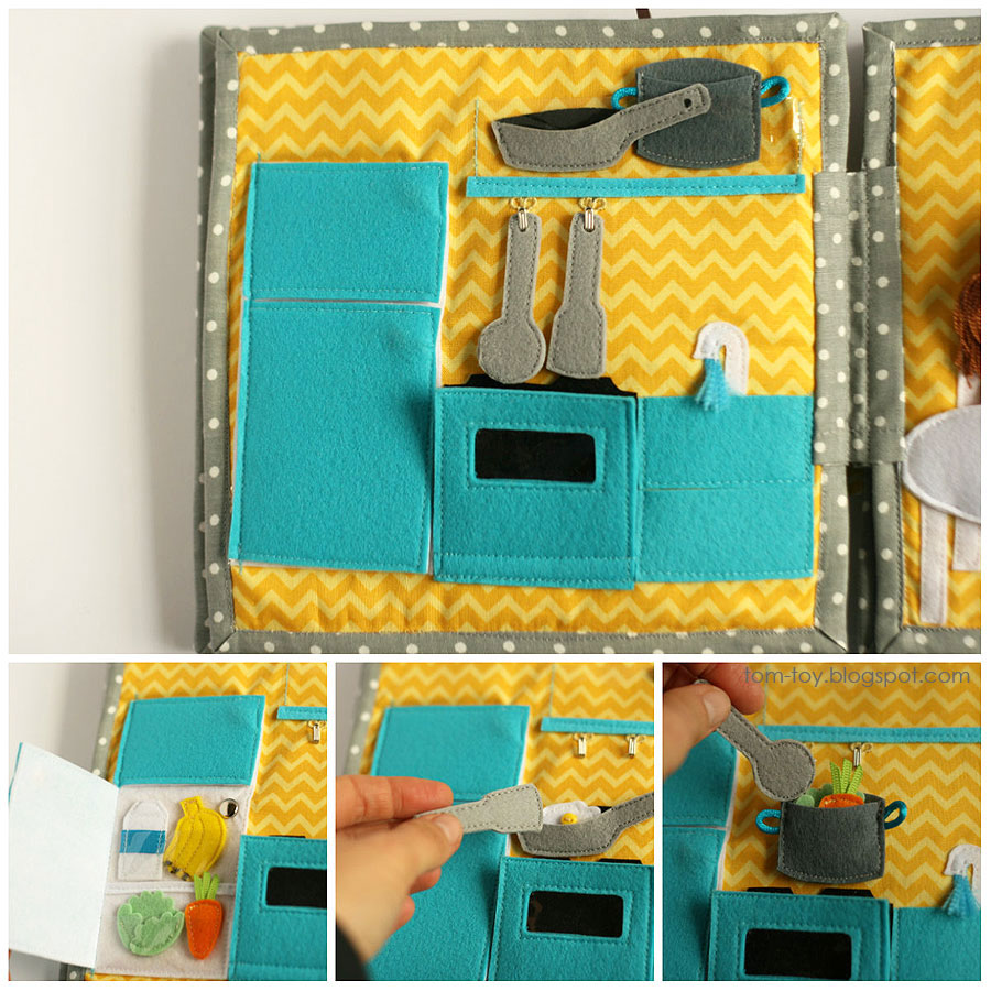 Cora's dollhouse, travel dollhouse, quiet busy book for girls, развивающая книжка, кукольный домик, кухня