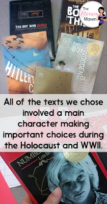 "As the number of Holocaust survivors dwindles each year, teaching a Holocaust unit in my English Language Arts class continues to be a top priority. While there are no direct connections to the Holocaust in the sixth grade curriculum, we decided to tie Holocaust themed literature circles to the thematic collection titled ""decisions that matter."" Read on for the six texts we chose and why."