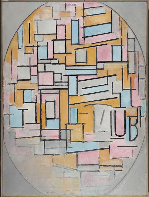 Piet Mondrian | Composição em oval com planos de cores 2 (1914) | Crédito: Gemeentemuseum, Den Haag