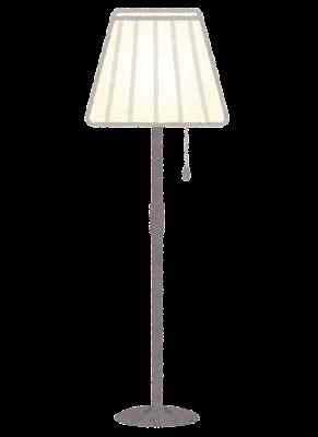 フロアランプのイラスト