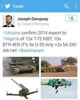 ARMS PROBE: Ukraine comfirms 2014 Export To Nigeria ,More Reasons Why Buhari's Arms Probe Remains A Scam (Photos)