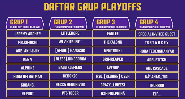 daftar grup playoffs