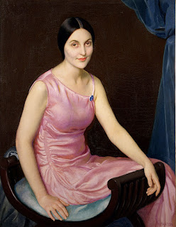 William MacGregor Paxton - Elsa in the Pink Dress