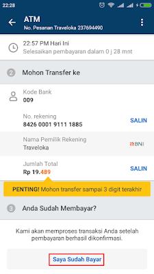 Cara Beli Pulsa Listrik Di Traveloka Bayar Via ATM