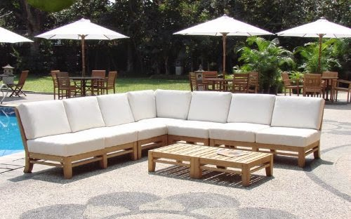 Discount 35 For New Luxurious 7 Piece Teak Sectional Sofa