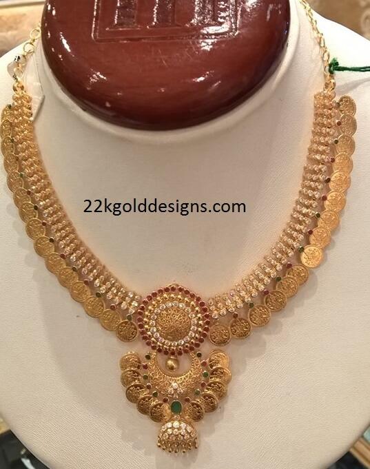 Gemstone Kasu Necklace