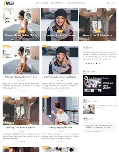Fabster Blogger Template Free Blogger Template  Without Copyright footer Credit