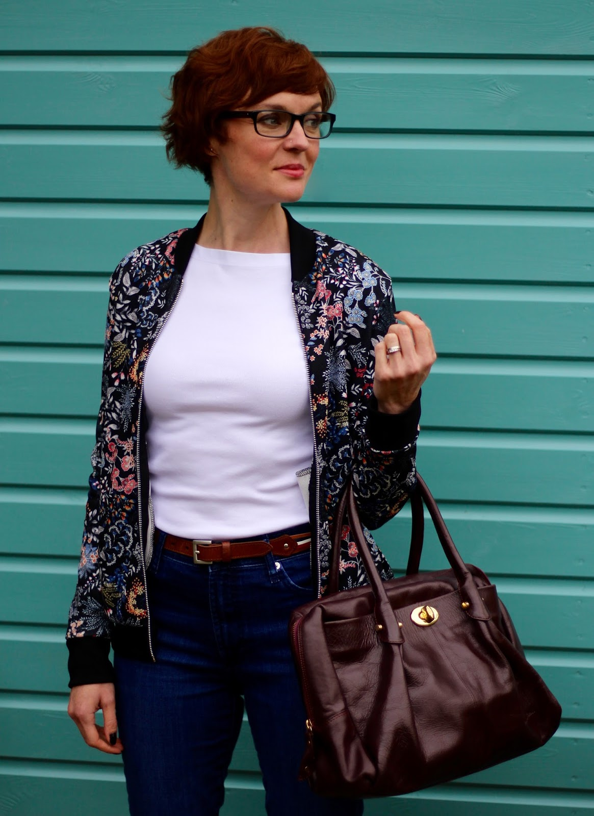 Fake Fabulous | 8 ways to wear a bomber jacket over 40.
