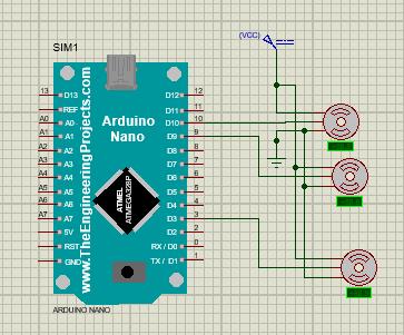 Motor Servo pada Arduino Nano menggunakan Proteus