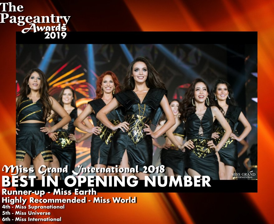 Pageantry Awards 2019: Miss Grand International Wins Best In Opening