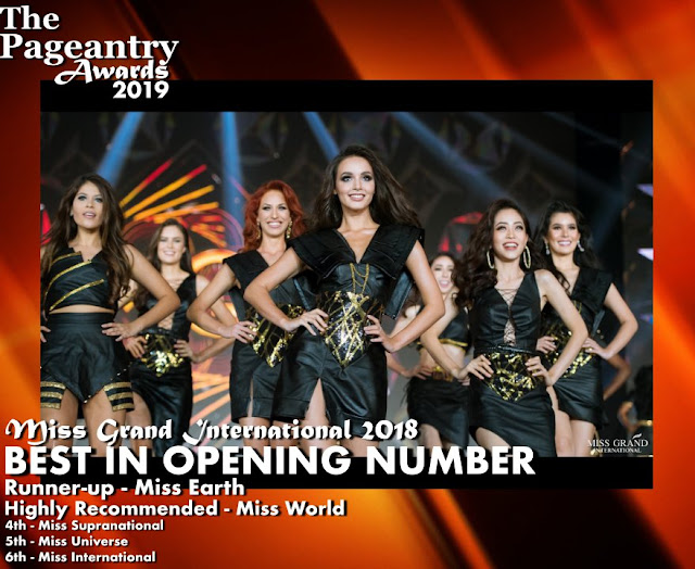 Pageantry Awards 2019 Miss Grand International Wins Best In Opening Number