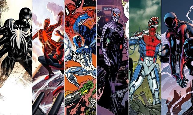Diferentes Spiderman y trajes alternativos