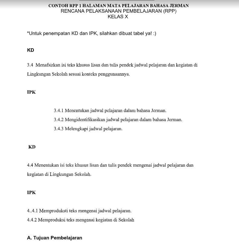 rpp bahasa jerman kennenlernen)