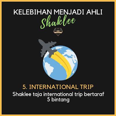 kelebihan ahli shaklee, international trip
