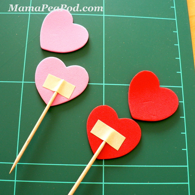 Mama Pea Pod: {More Pink And Red Heart Party Crafts: Fun