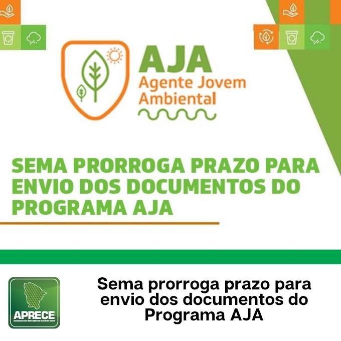 SEMA prorroga prazo para envio dos documentos dos candidatos selecionados no Programa AJA