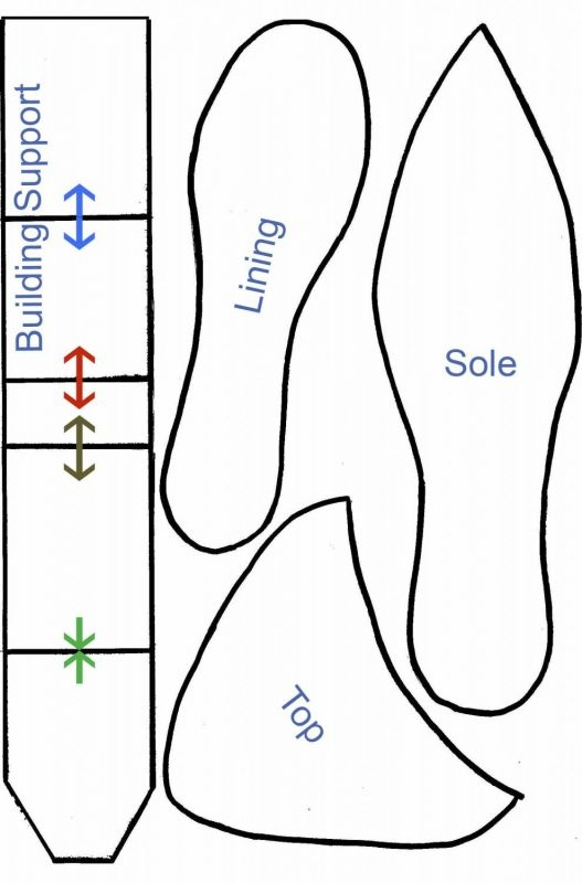 Free Paper High Heel Shoe Template