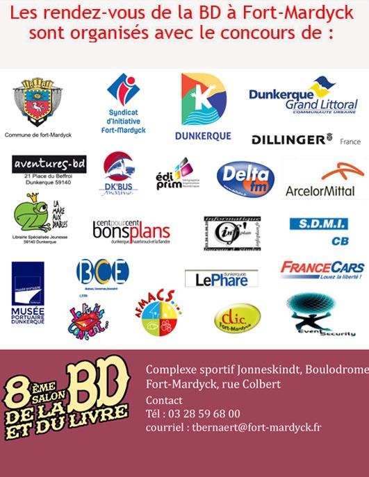 Salon de la bd et du livre de fort mardyck 2017 partenaires for Salon de la bd colomiers