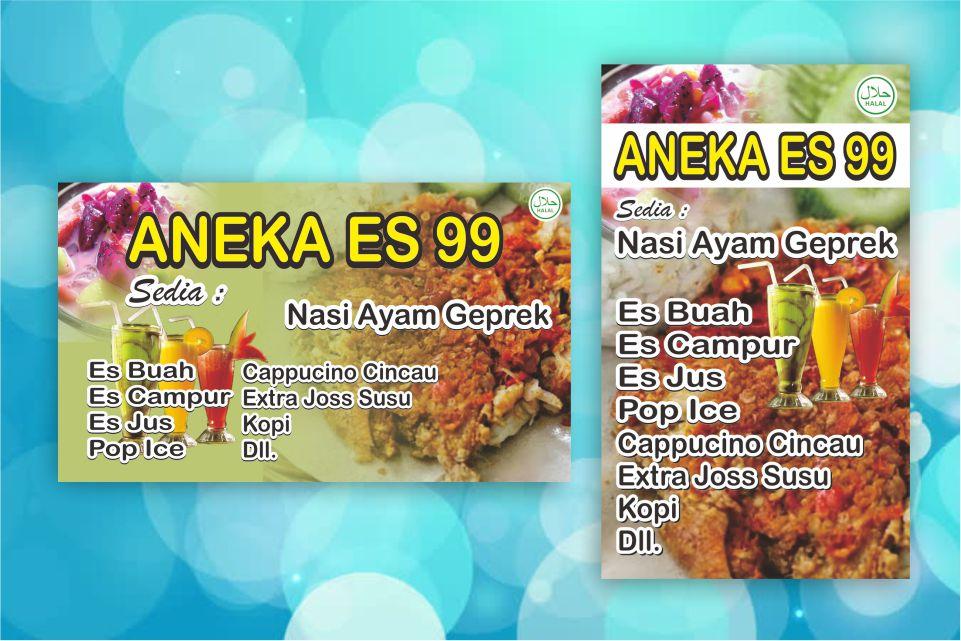 Desain Banner Makanan Minuman - contoh desain spanduk