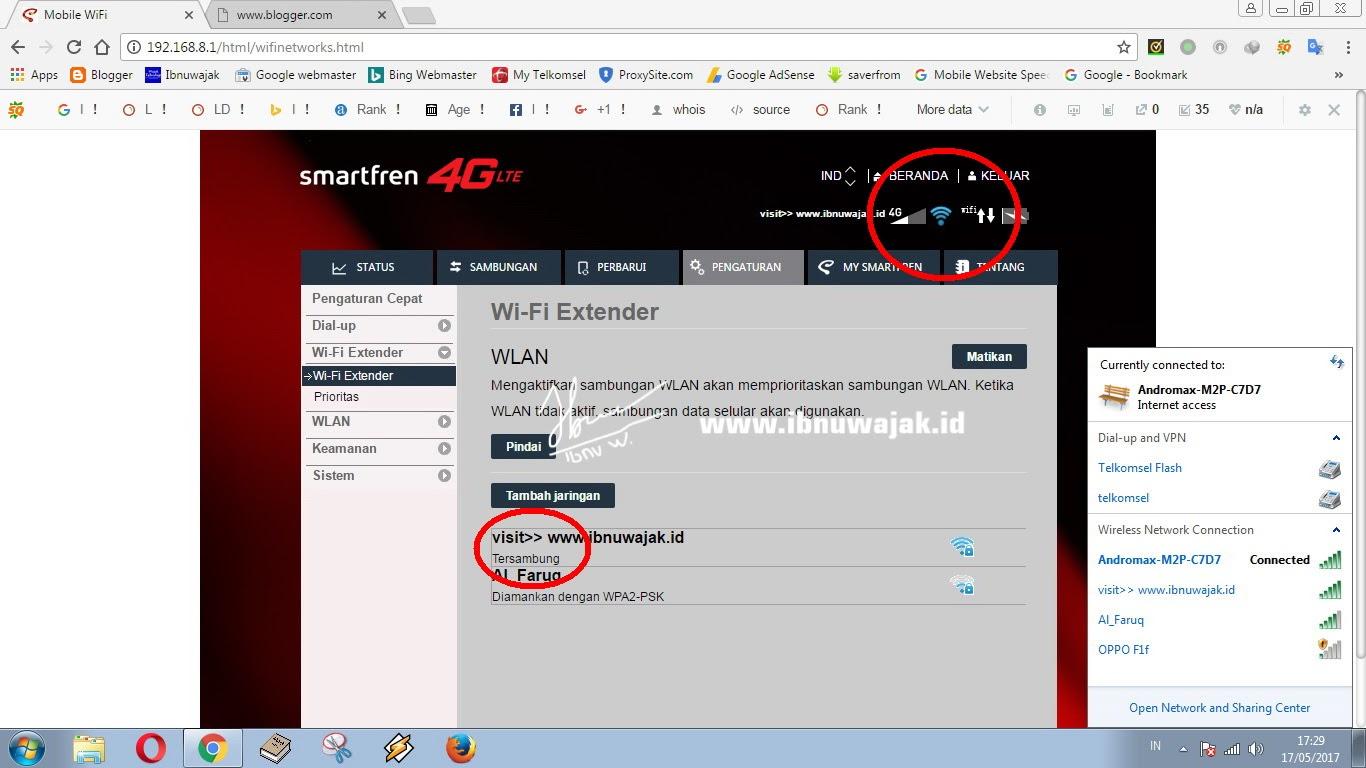 Memanfaatkan Mifi Smartfren Menjadi Wifi Extender Modem Andromax M6 4g Lte M3y