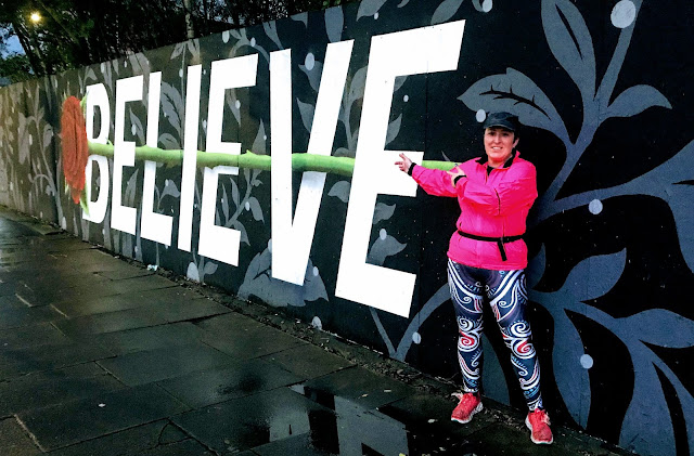 The BELIEVE sign at Blackburn Open Walls (Penny Street, Blackburn) by Mr Christa