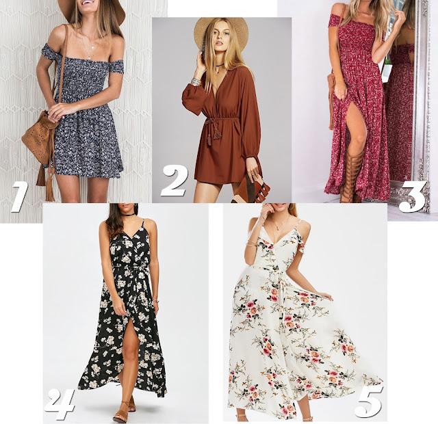 Summer Wish List: Bohemian Dresses