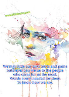 hide our own hurts and pains, whatsapp heart touching status