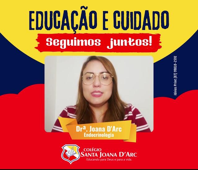 Colégio Santa Joana D'Arc lança série: Educação e Cuidado a fim de orientar e colaborar com bem-estar dos alunos e familiares.