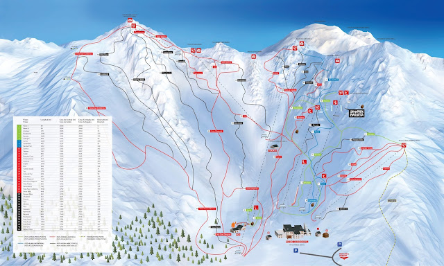 Mapa de pistas de Boí Taüll