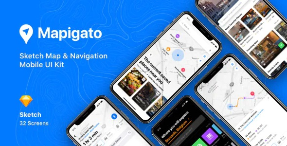 Best Map & Navigation Mobile UI Kit