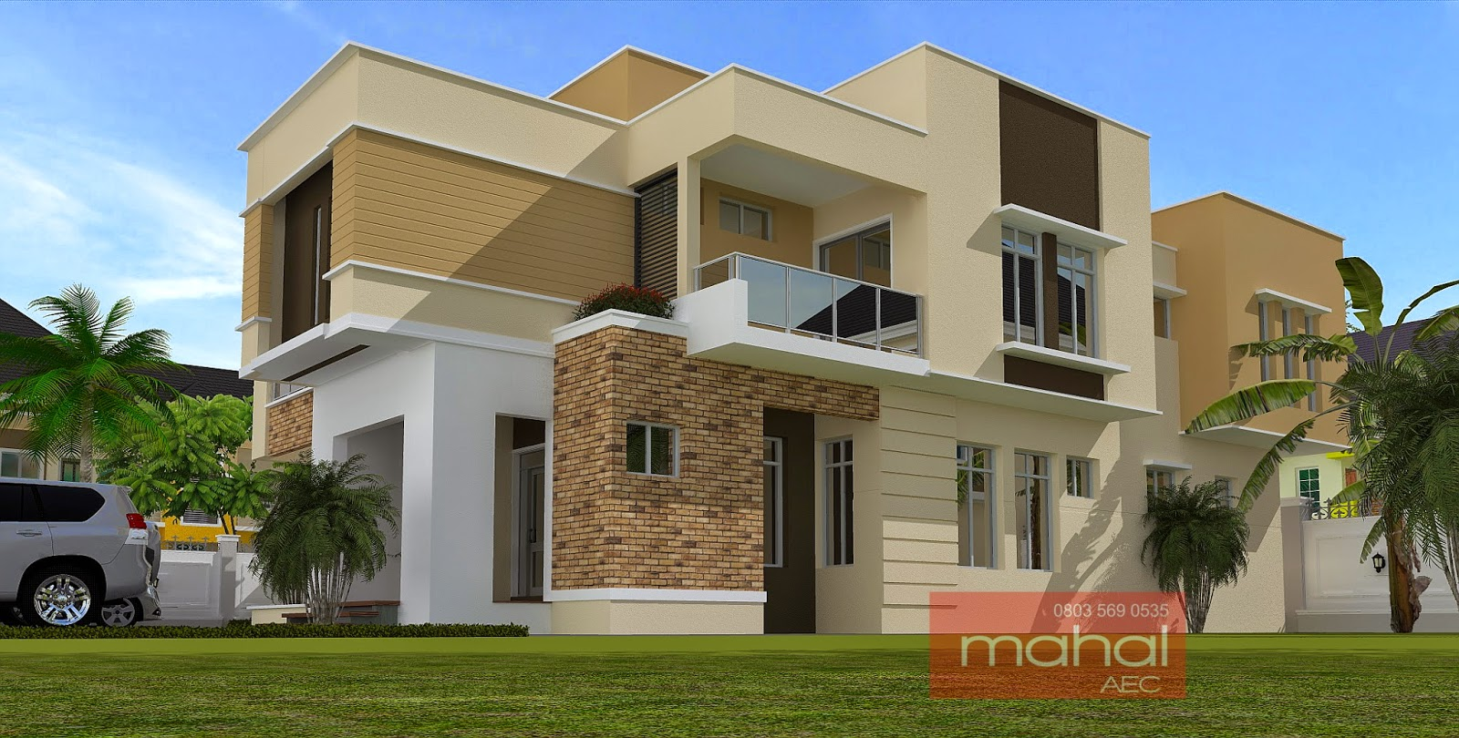 Contemporary nigerian residential architecture for Duplex building prices