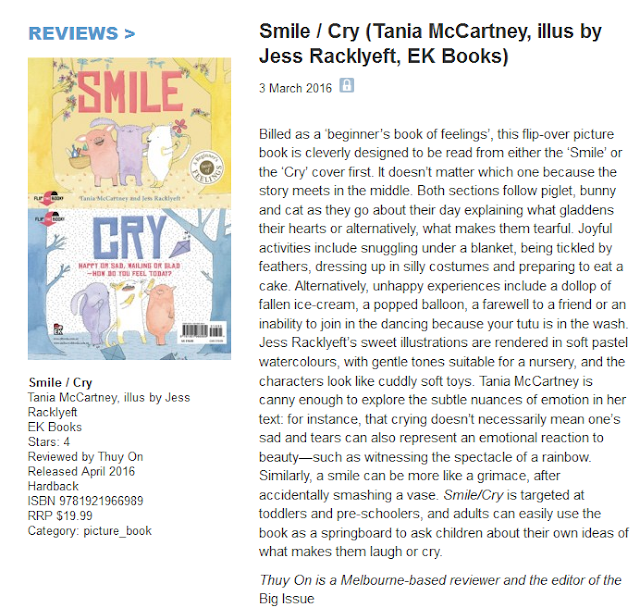 http://www.booksandpublishing.com.au/articles/2016/03/03/44930/smile-cry-tania-mccartney-illus-by-jess-racklyeft-ek-books/