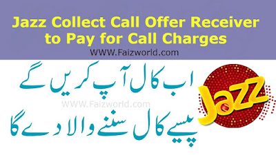 Jazz Collect Call Offer Receiver to Pay for Call Charges