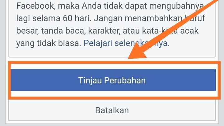 Cara Membuat nama fb tidak bisa di klik