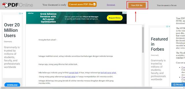 Cara Convert PDF to Word Online Gratis