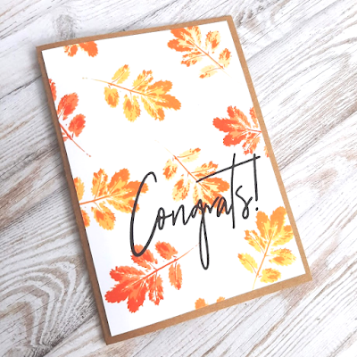 Fall card featuring Layered Leaf Prints from Gina K Designs