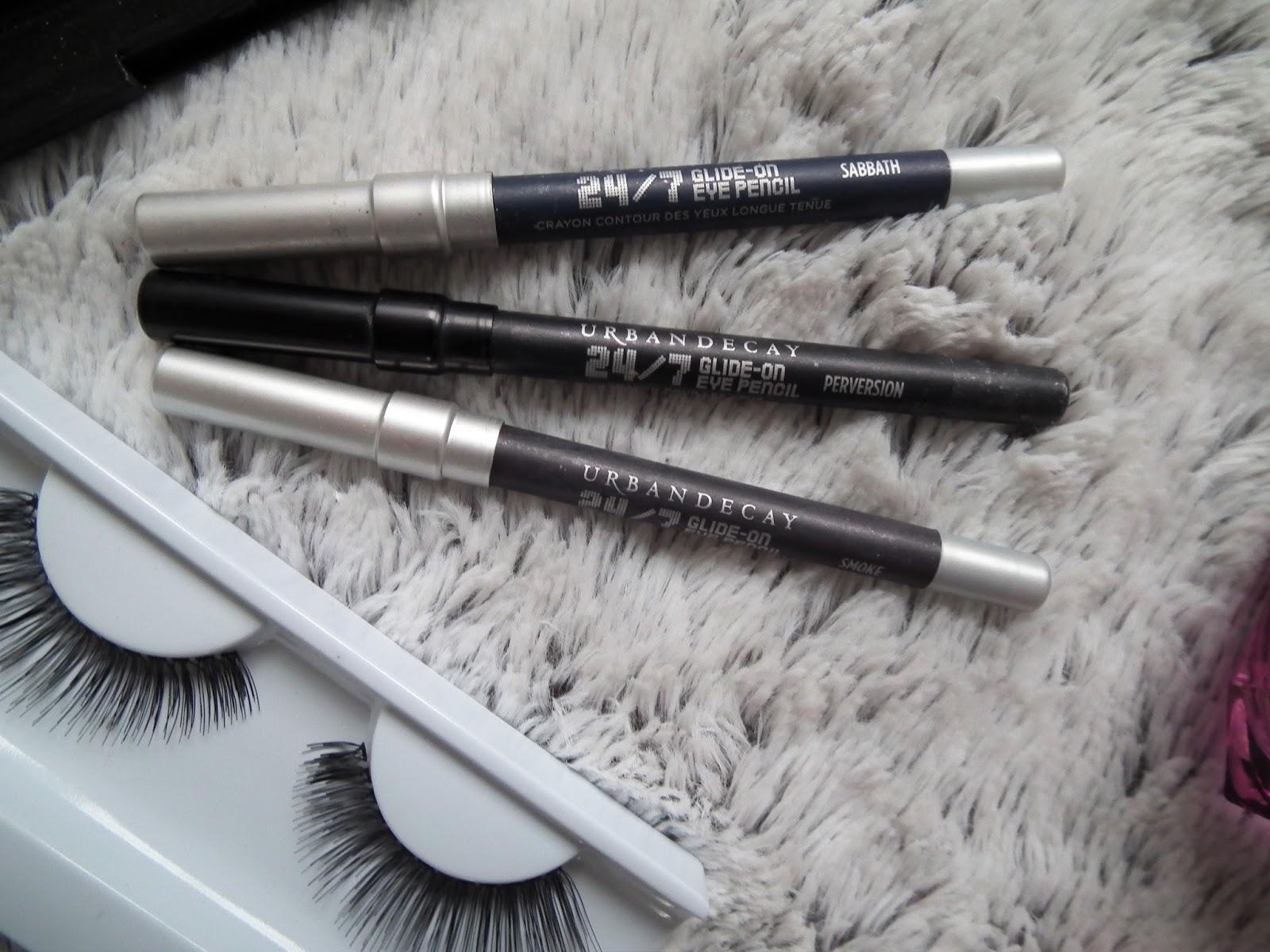 Eye pencils & fake lashes