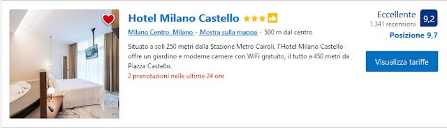 Hotel Milano Castello - Situato a soli 250 metri dalla Stazione Metro Cairoli, l'Hotel Milano Castello offre un giardino e moderne camere con WiFi gratuito, il tutto a 450 metri da Piazza Castello.